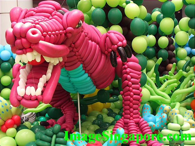 One of the best balloon sculptures exhibit at Marina Square Mall.
