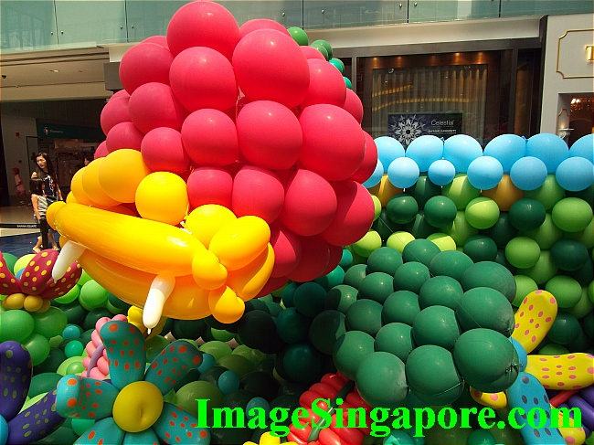 Lots of bright color balloons