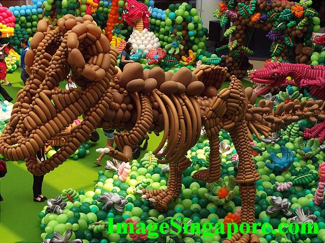 Balloon Dinosaurs at Marina Square Mall.