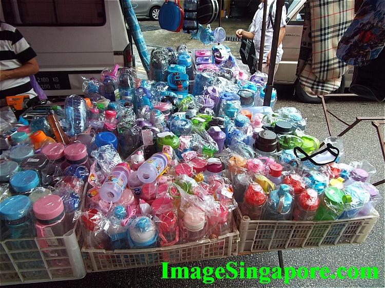 So many plastic water bottles.