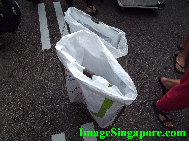 This is the garbage bag placed on the street.