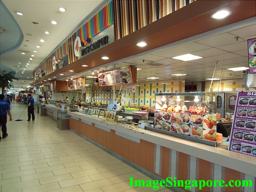 Food court at Aeon Mall Permas Jaya