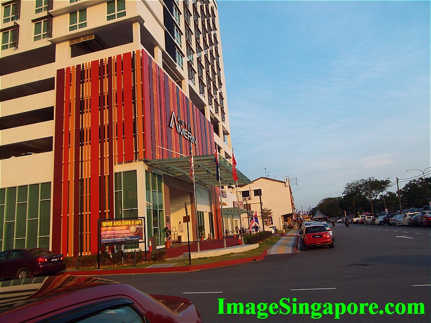 Amerin Hotel Johor Bahru is located opposite Perling Mall