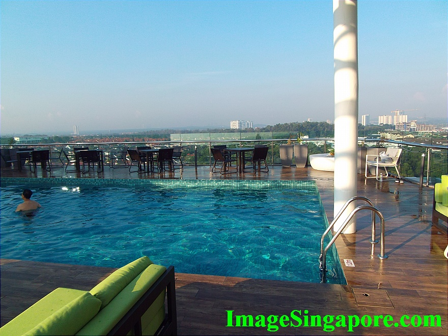 Swimming pool of Amerin Hotel Johor Bahru